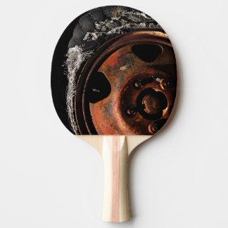 Rusty Wheel Torn Tire Macro Photograph Ping Pong Paddle