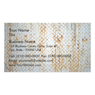 Rusty White Tread Plate Texture Business Cards