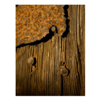 Rusty wood background postcard