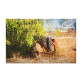 Rusty Wreck Front View Canvas Print
