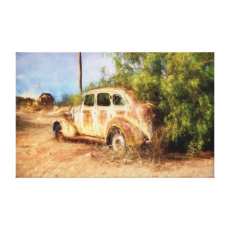 Rusty Wreck Rear View Canvas Print