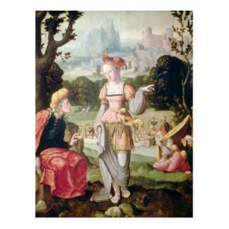 Ruth and Naomi in the field of Boaz, c.1530-40 Postcard