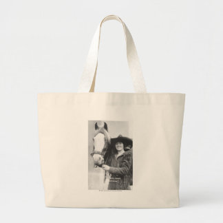 Ruth Roach and her horse. Large Tote Bag