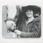 Ruth Roach and her horse. Mousepad