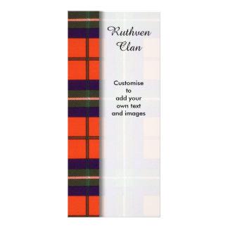 Ruthven clan Plaid Scottish tartan Rack Cards