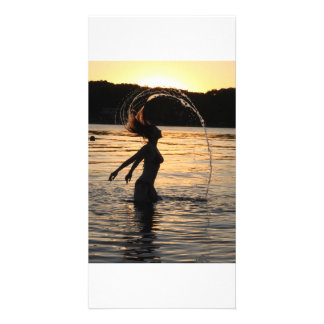 ruthy hair whip personalized photo card