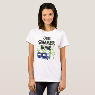 RV Camping Our Summer Home Watercolor T-Shirt