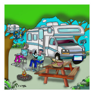 RV Cartoon 9475 Poster