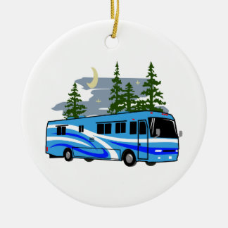 RV Motor Home Camping Ceramic Ornament