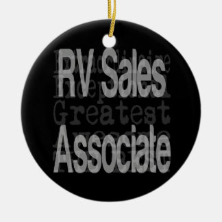 RV Sales Associate Extraordinaire Ceramic Ornament