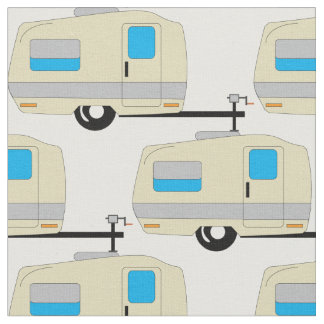 RV Travel Trailer Camping Life Fabric