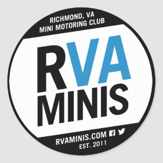 """RVA MINIs 3"""" Sticker"""