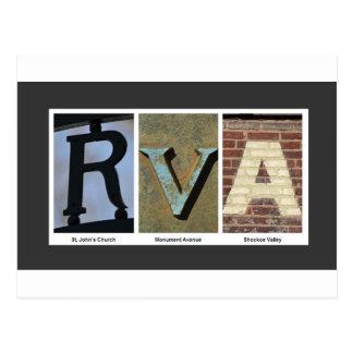 RVA photo collage Postcard