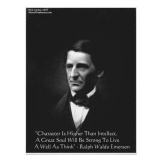 RW Emerson Intellect & Character Quote Posters