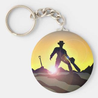 RWAC: Cowboy Chainsaw Spade Key Ring