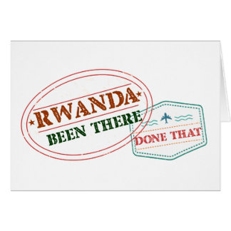 Rwanda Been There Done That Card