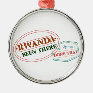Rwanda Been There Done That Metal Ornament