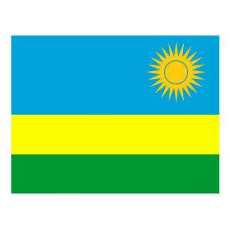 rwanda country flag nation symbol postcard