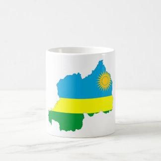 rwanda country flag shape map symbol coffee mug