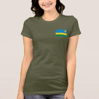 Rwanda Flag and Map dk T-Shirt