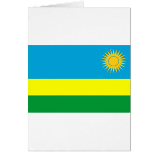Rwanda flag card