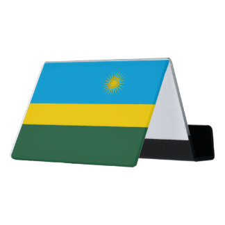 Rwanda Flag Desk Business Card Holder