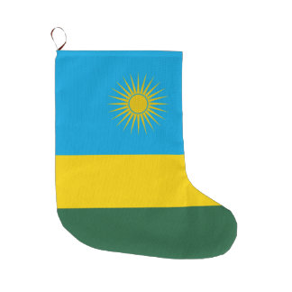 Rwanda Flag Large Christmas Stocking