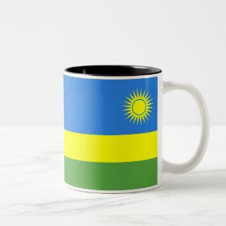 Rwanda Flag Two-Tone Coffee Mug