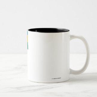 Rwanda Flag with Name Two-Tone Coffee Mug