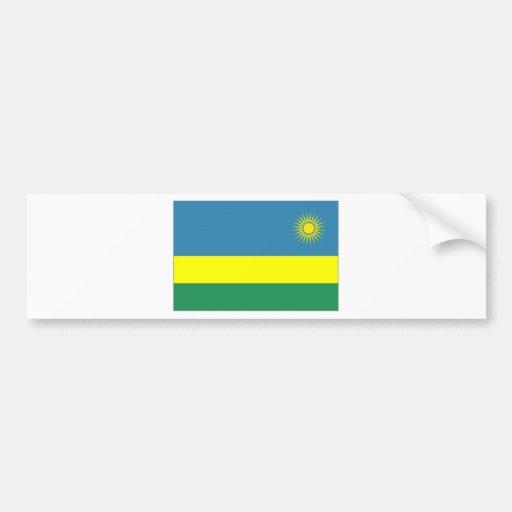 Rwanda National Flag Bumper Sticker