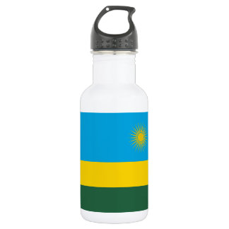 Rwanda National World Flag 532 Ml Water Bottle