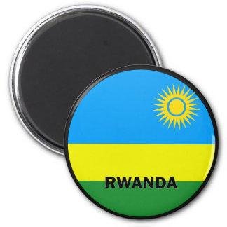 Rwanda Roundel quality Flag 6 Cm Round Magnet