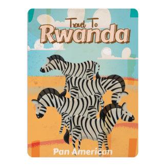 Rwanda Vintage Travel Poster Card