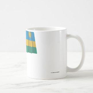 Rwanda Waving Flag Coffee Mug