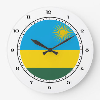 Rwandan / Rwandese flag clocks