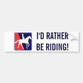 RWB-HORSE-RIDER BUMPER STICKER