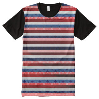 RWB Stripes All-Over Print T-Shirt