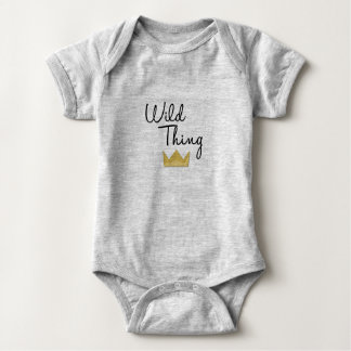 RWT matchies crown black Baby Bodysuit