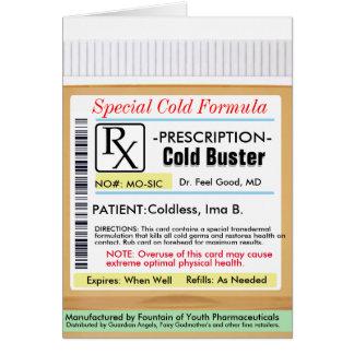 RX Prescription for Colds Card