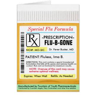 RX Prescription for Flu Card
