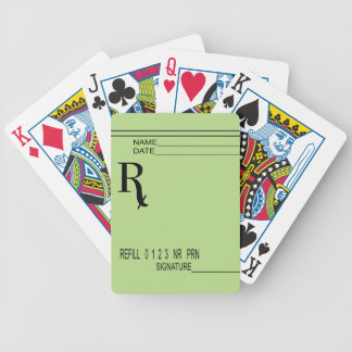 Rx Prescription Pad - Write Your Own Prescription! Bicycle Playing Cards
