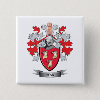 Ryan Coat of Arms 15 Cm Square Badge