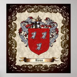 Ryan Coat of Arms Print