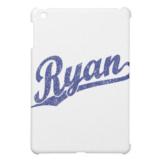 Ryan Distressed Blue Script Logo iPad Mini Case
