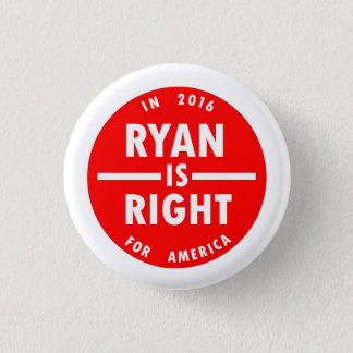 Ryan is Right 3 Cm Round Badge