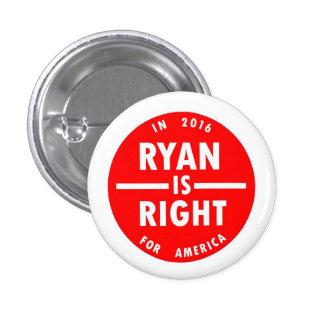 Ryan is Right 3 Cm Round Badge