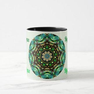 RYAN ~ Personalised Paua Shell Fractal ~ Mug