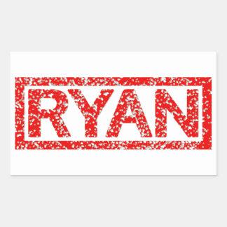 Ryan Stamp Rectangular Sticker