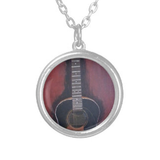 Ryan's Guitar Silver Plated Necklace