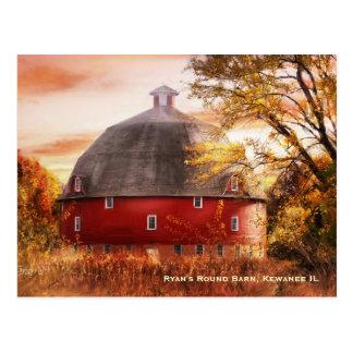 Ryan's Round Barn Postcard